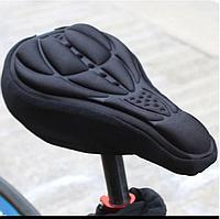 Чохол накладка силіконовий Velos на велосипедне сидіння Чорний 280*170мм, фото 1