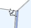 ODF-09-12-01 Кріплення штанги 16 мм до скла наскрізне Т-образне сатин., фото 10