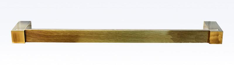 Держатель полотенец одинарный 30 см Viya бронза