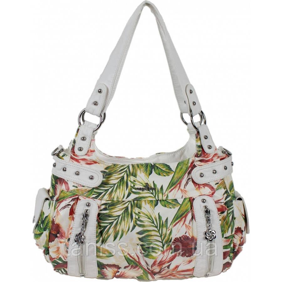 Женская мягкая,вместительная сумка,материал кожзам ,две средние  ручка, 1 длинная, два отделения (AK19244)