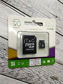 Карта памяти Micro SD 32Gb T&G Class 10 c ад.(UHS-1)