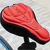 Чехол накладка силиконовый Velos на велосипедное сиденье Красный 280*170мм