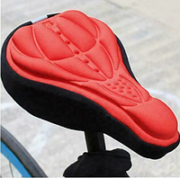Чехол накладка силиконовый Velos на велосипедное сиденье Красный 280*170мм, фото 1