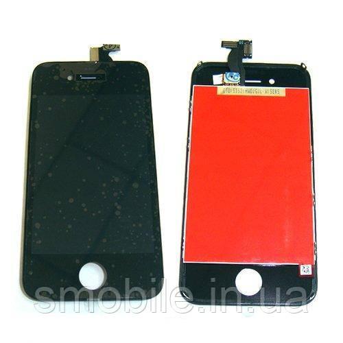Дисплей iPhone 4S с сенсором и рамкой, черный (копия AAA)