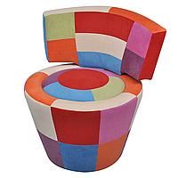 Кругле крісло печворк для вітальні, дитячої, фото 1
