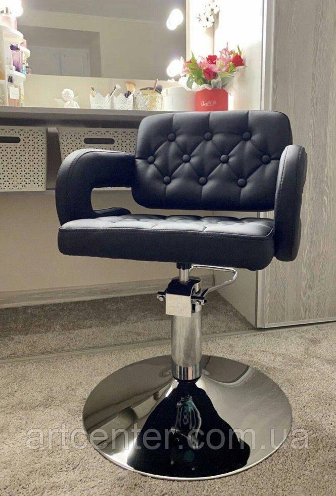 Кресло для парикмахера Jessy черного цвета, гидравлика