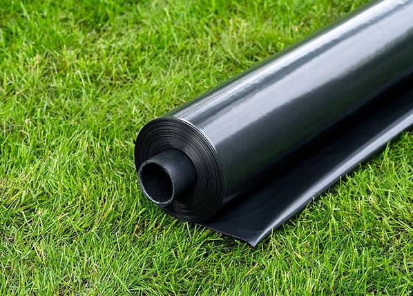 Пленка черная строительная СТР, 110 мкм 6м x 50м. Полиэтиленовая, фото 2