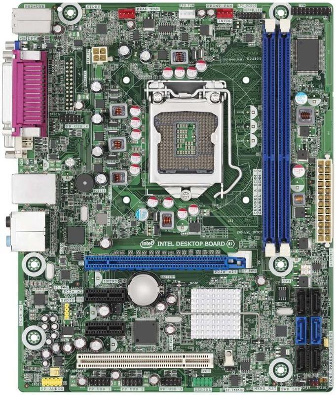 Материнська плата Intel DH61BE, s1155 , 2xDDR3, 4xSATA, Socket LGA1155, б\у + задня планка
