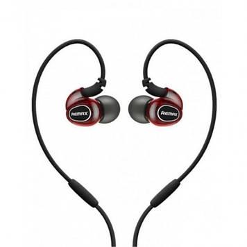 Навушники вакуумні Remax S1 PRO sporty(гарнітура+регулятор гучності) black/red