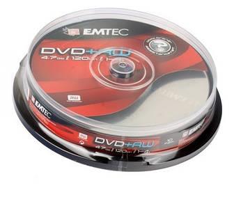 """DVD+RW """"Emtec"""" 4х 4.7Gb/120min штир(10)"""