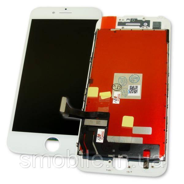 Дисплей iPhone 7 с сенсором и рамкой, белый (оригинальные комплектующие)