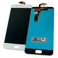 Дисплей Meizu M5S M5S Mini с сенсором, белый (оригинальные комплектующие), фото 1