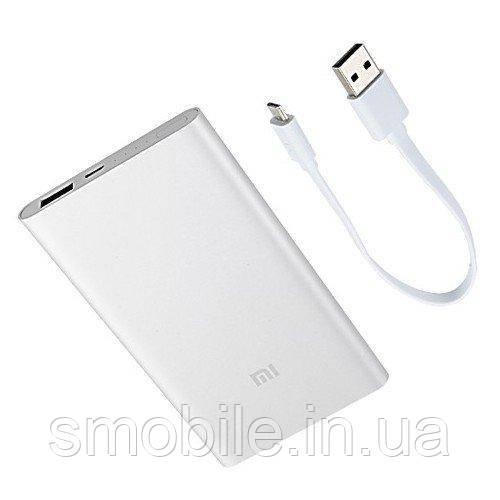 Внешняя аккумуляторная батарея Xiaomi Mi2 (5 000mAh) серебристая (оригинал)
