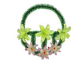Корзинка лілія 6 квітів ТМ ЗАПАДНАЯ