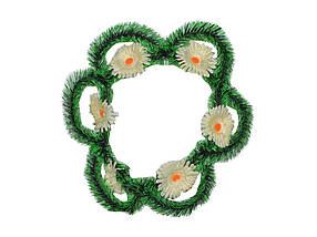 Вінок поминальний Сонечко супер 6 квітів ТМ ХАРКІВ