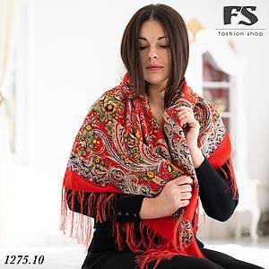 Павлопосадский красный платок  Изысканная