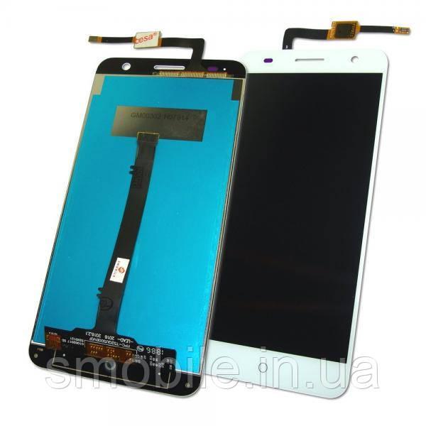 Дисплей ZTE Blade V7 с сенсором, белый (оригинальные комплектующие)