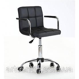 Крісло для майстрів Tower, на колесах і з підлокітниками, пневматика, кожзам