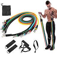 Набор трубчатых эспандеров ленты для фитнеса резиновый еспандер эспандер резинки ногСпины универсальный 10в1