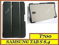 Черный кожаный Ultra slim чехол-книжка  для Samsung Tab S 8.4 T700 T701 T705