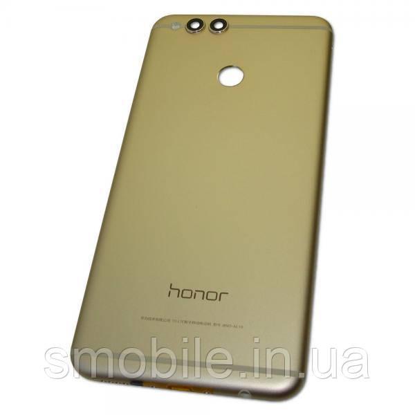 Задняя крышка, корпус Huawei Honor 7X золотистая, с внешними кнопками (оригинал Китай)