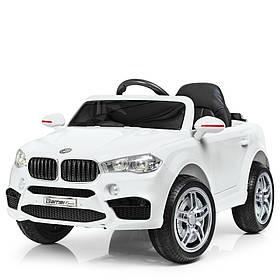 Дитячий електромобіль BMW (2 мотора за 30W, 2 акум, МР3,USB) Джип Bambi M 3180EBLR-1 Білий
