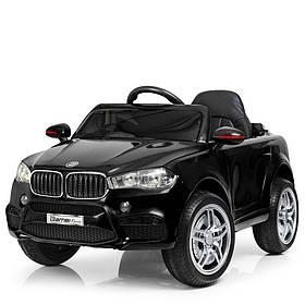 Дитячий електромобіль BMW (2 мотора за 30W, 2 акум, МР3,USB) Джип Bambi M 3180EBLR-2 Чорний