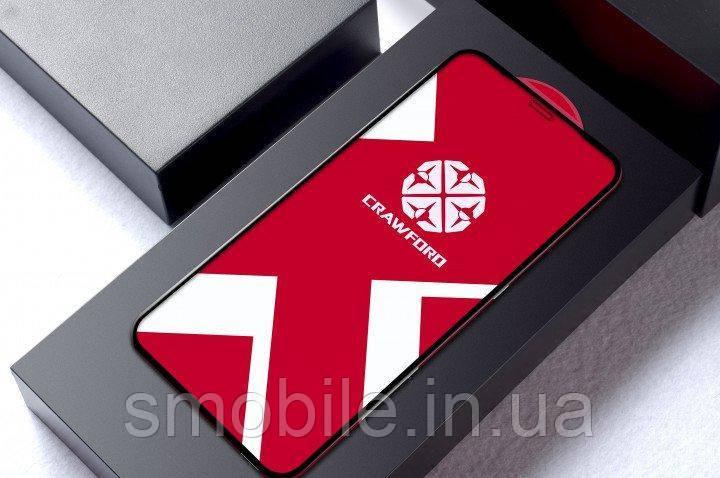 XO Захисне і загартоване скло XO FD7 для iPhone XS Max повноекранне чорне 0.26 мм 3D (оригінал)