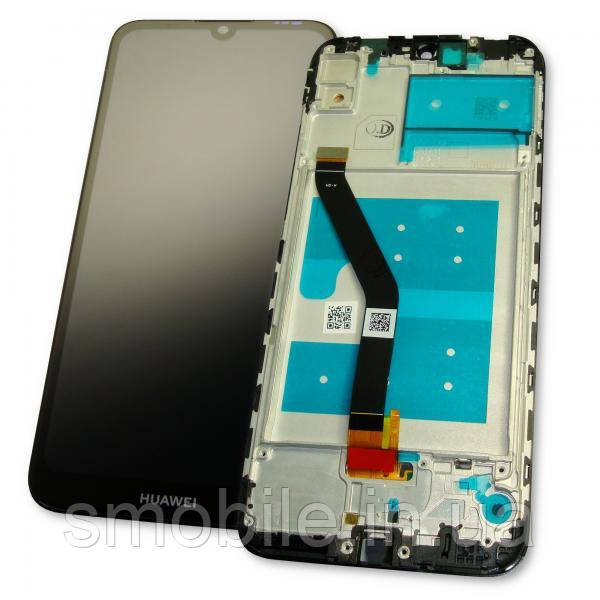 Дисплей Huawei Y6 2019 с сенсором и рамкой, черный (оригинальные комплектующие)