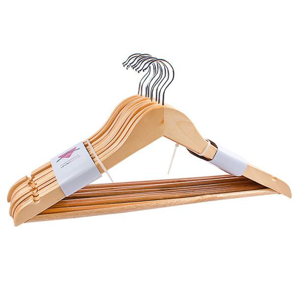 Деревянные вешалки плечики, 44см, 10шт в упаковке
