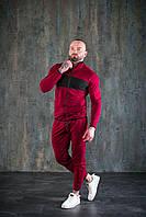 Мужской спортивный костюм бордо / весна лето