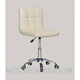 Косметичне крісло Sity, на колесах, регулюється по висоті, кожзам Кремовий