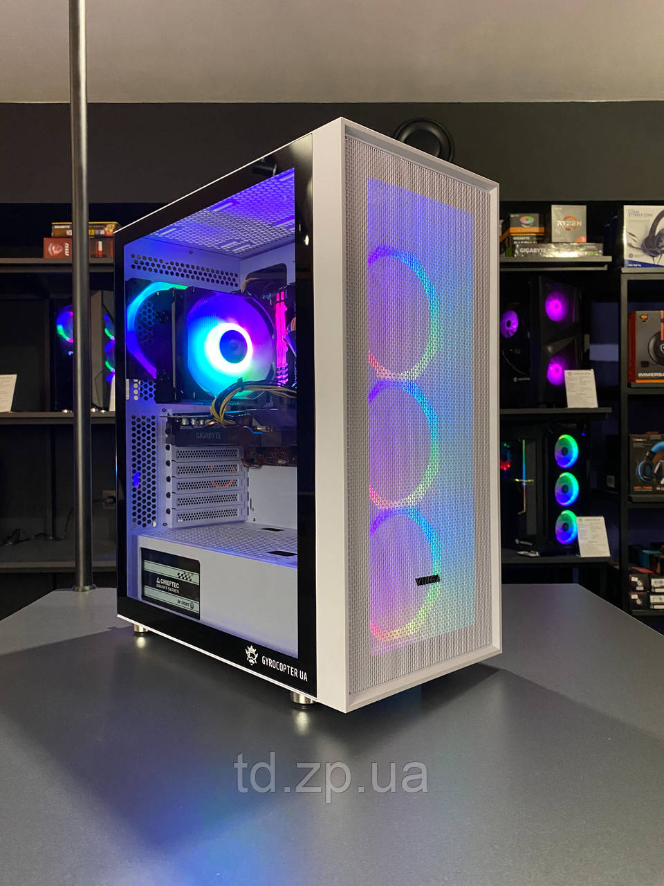 Ігровий комп'ютер Intel Core i3-10100f + RAM 16Gb+ HDD 1000Gb + SSD 120Gb + GTX 1070 8Gb