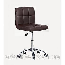 Косметичне крісло Sity, на колесах, регулюється по висоті, кожзам коричневий