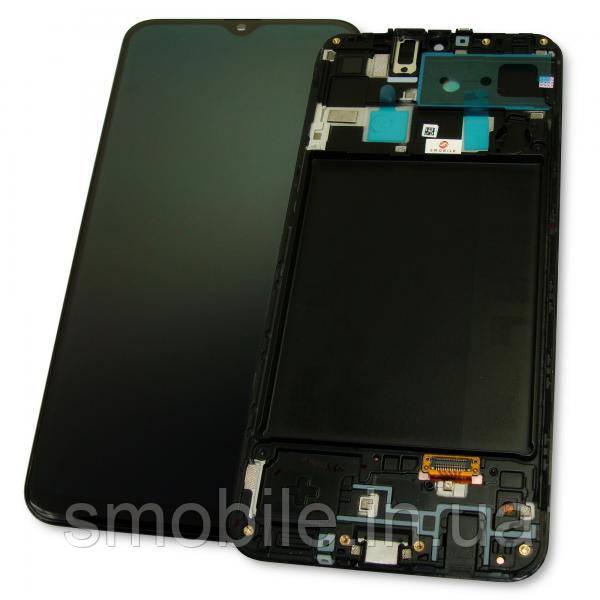Samsung Дисплей Samsung A205F A205G Galaxy A20 2019 + сенсор чорний і рамка GH82-19571A (оригінал 100%)