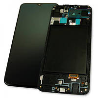 Samsung Дисплей Samsung A205F A205G Galaxy A20 2019 + сенсор чорний і рамка GH82-19571A (оригінал 100%), фото 1