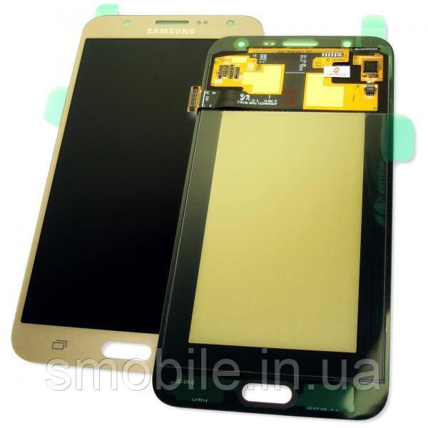 Дисплей Samsung J700F J700H Galaxy J7 2015 с сенсором, золотистый GH97-17670B (оригинал 100%)