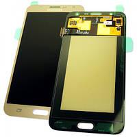 Дисплей Samsung J700F J700H Galaxy J7 2015 с сенсором, золотистый GH97-17670B (оригинал 100%), фото 1