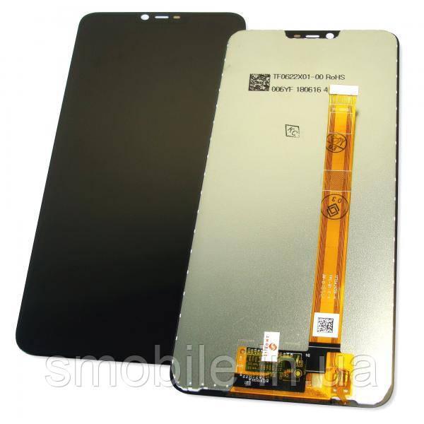 Дисплей Oppo A3s / A5 2018 / AX5 с сенсором, черный (оригинальные комплектующие)