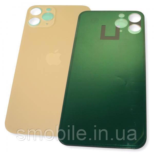 Стекло задней крышки iPhone 11 Pro золотистое