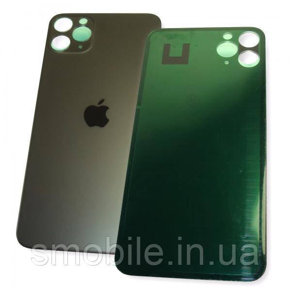 Стекло задней крышки iPhone 11 Pro Max черное