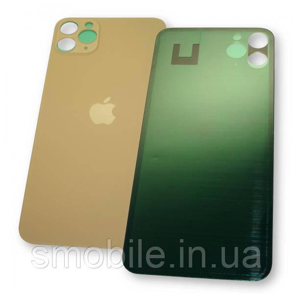 Стекло задней крышки iPhone 11 Pro Max золотистое