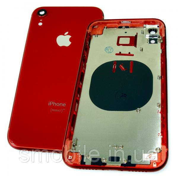 Корпус iPhone XR красный (полный комплект)
