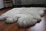 Необычный тройной ковер из высококачественной меховой овчины, фото 2