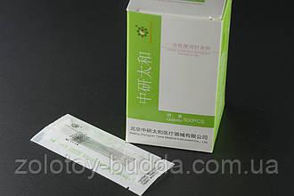 Голки для акупунктури, рефлексотерапії 0,30*40 мм 500 голок. Zhongyan Taihe