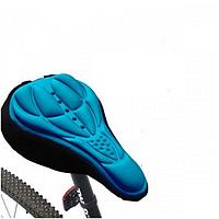 Чохол силіконовий Velos на велосипедне сидіння Синій 280*170мм, фото 1