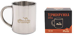 Термокружка Tramp 225 мл серый TRC-008