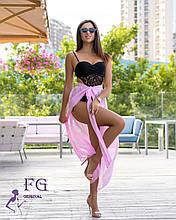 """Пляжна спідниця-парео """"Шанталь""""  Розпродаж моделі рожевий"""