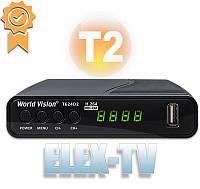 Tюнер Т2 цифровой эфирный World Vision T624D2 Т2 приставка