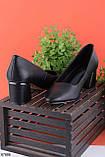 Туфли женские черные эко кожа на каблуке 5 см, фото 2